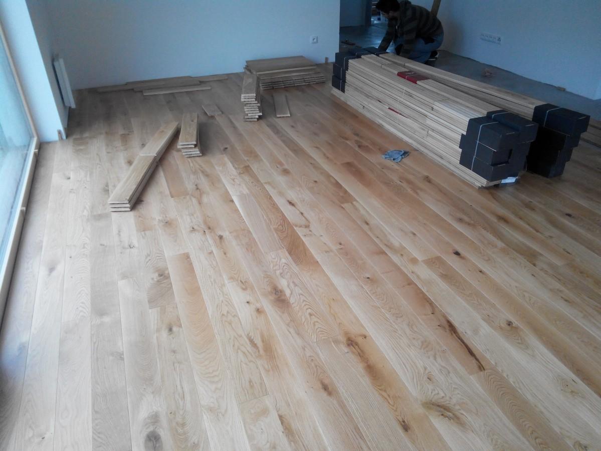Položení podlahy